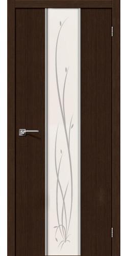 Межкомнатная дверь 3D со стеклом Глейс-2 Twig 3д Венге