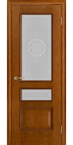 Межкомнатная дверь шпонированная со стеклом Вена Дуб версаче