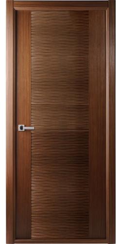Дверь шпонированная глухая Авангард орех