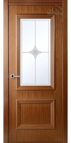 Дверь шпонированная со стеклом Франческа орех