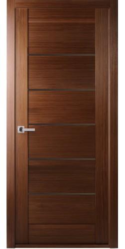 Межкомнатная дверь шпонированная Мирелла ПГ орех
