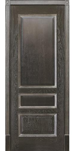 Межкомнатная дверь шпонированная Вена 1 ПГ Черный