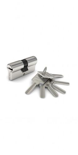 Цилиндр ключ-ключ матовый хром