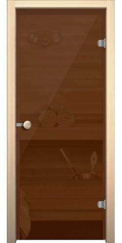 Межкомнатная дверь для бани Кноб Е бронза тонированная