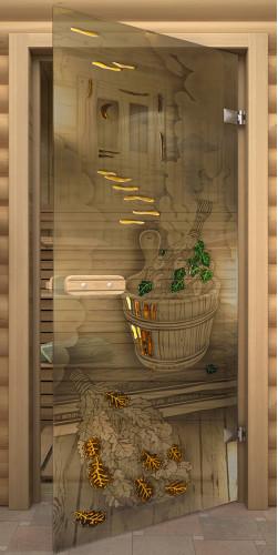 Межкомнатная дверь для бани Парилка бронза