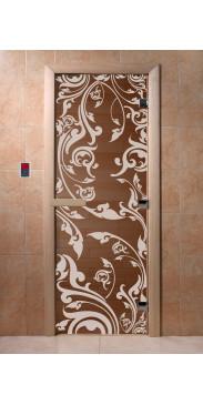 Дверь для бани и сауны Венеция бронза