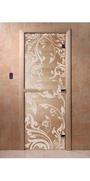 Дверь для бани и сауны Венеция прозрачная