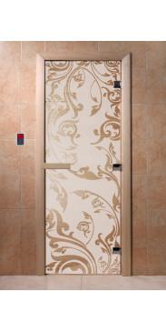 Дверь для бани и сауны Венеция сатин