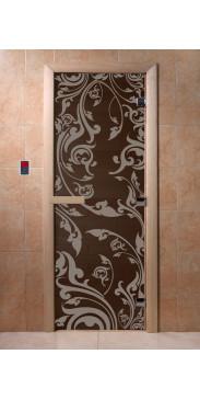 Дверь для бани и сауны Венеция черный жемчуг