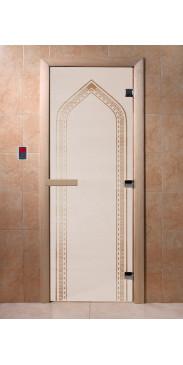 Дверь для бани и сауны Арка сатин