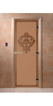 Дверь для бани и сауны Версаче бронза матовая