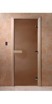 Дверь для бани и сауны Бронза матовая
