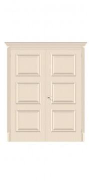 Двустворчатая дверь Классико-16 ДГ Ivory