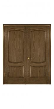 Двустворчатая дверь Лаура 2 ДГ мореный дуб светлый