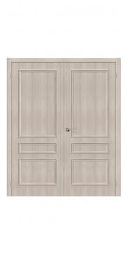 Двустворчатая дверь Симпл 14 ДГ Cappuccino Veralinga