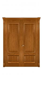 Двустворчатая дверь Фараон 1 ДГ дуб золотистый