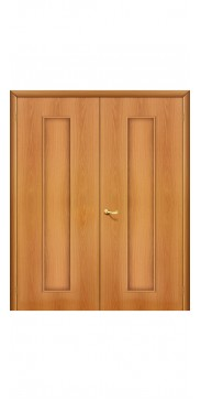Двустворчатая дверь 20 Х ДГ миланский орех