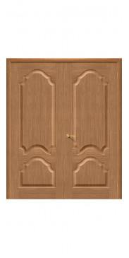 Двустворчатая дверь Афина ДГ дуб(Ф01)
