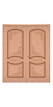 Двустворчатая дверь Азалия ДГ дуб