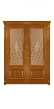 Двустворчатая дверь Фараон 1 ДО дуб золотистый