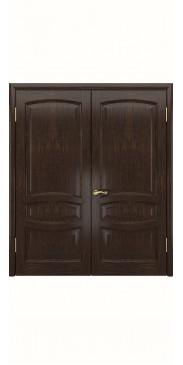 Двустворчатая дверь Деметра ДГ мореный дуб