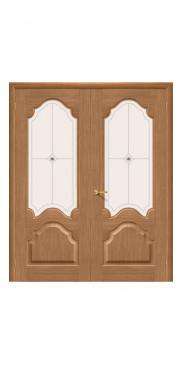 Двустворчатая дверь Афина ДО дуб
