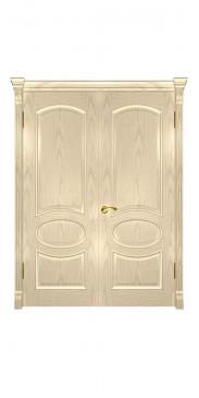 Двустворчатая дверь Грация ДГ слоновая кость