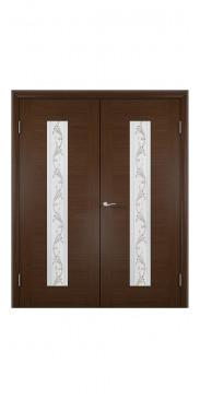 Двустворчатая дверь Рондо ДО венге