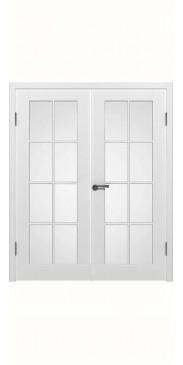Двустворчатая дверь Порта ДО белый