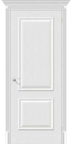 Дверь межкомнатная экошпон глухая Классико 12 цвет Virgin
