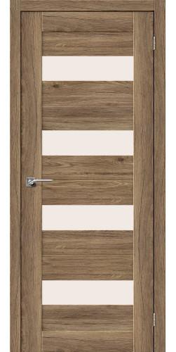 Дверь межкомнатная экошпон со стеклом Легно 23 цвет Original Oak