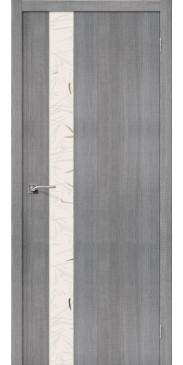 Дверь экошпон Порта 51 ПО Grey Crosscut