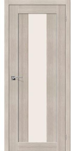 Дверь межкомнатная экошпон со стеклом Порта 25 цвет Cappuccino veralinga