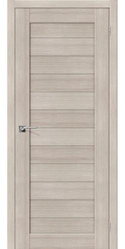 Дверь межкомнатная экошпон глухая Порта 21 цвет Cappuccino veralinga