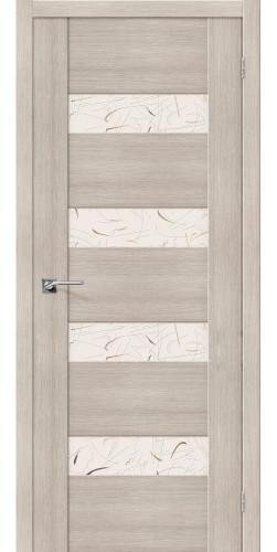 Дверь межкомнатная экошпон со стеклом VM4 цвет Cappuccino veralinga