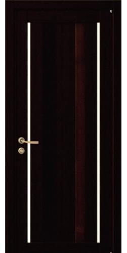 Дверь межкомнатная Uberture 2190 со стеклом экошпон цвет шоко велюр