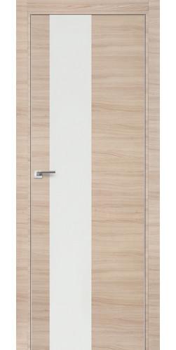 Межкомнатная дверь экошпон 5Z капучино кроскут белый лак