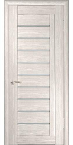 Дверь межкомнатная экошпон со стеклом ЛУ-25 капучино