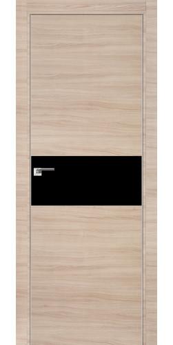 Межкомнатная дверь экошпон со стеклом 4 Z капучино