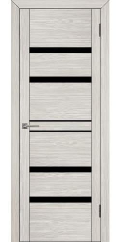 Дверь межкомнатная Uberture 30030 со стеклом экошпон цвет капучино велюр