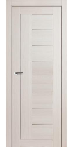 Дверь межкомнатная экошпон со стеклом 17Х цвет эш вайт мелинга