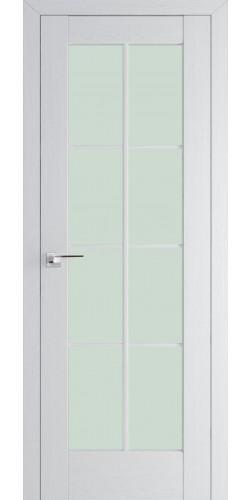 Межкомнатная дверь экошпон со стеклом 101Х пекан белый