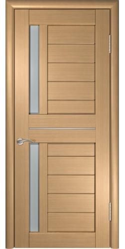 Межкомнатная дверь экошпон со стеклом ЛУ-27 Орех