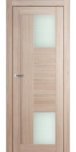 Дверь межкомнатная экошпон со стеклом 43Х цвет капучино мелинга