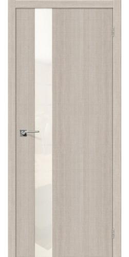 Дверь межкомнатная экошпон со стеклом Порта 51 цвет Cappuccino Crosscut