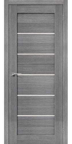 Дверь межкомнатная экошпон со стеклом Порта 22 цвет Grey veralinga