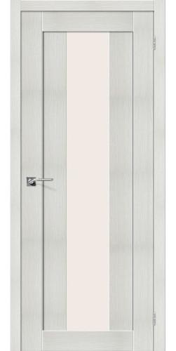 Дверь межкомнатная экошпон со стеклом Порта 25 цвет Bianco veralinga