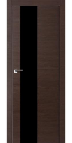 Межкомнатная дверь экошпон 5Z венге кроскут черный лак