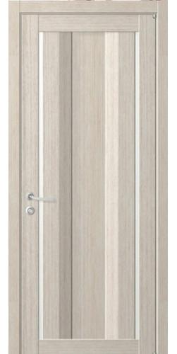 Дверь межкомнатная Uberture 2190 со стеклом экошпон цвет капучино велюр