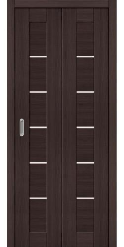 Межкомнатная дверь экошпон Порта 22 ДС wenge veralinga